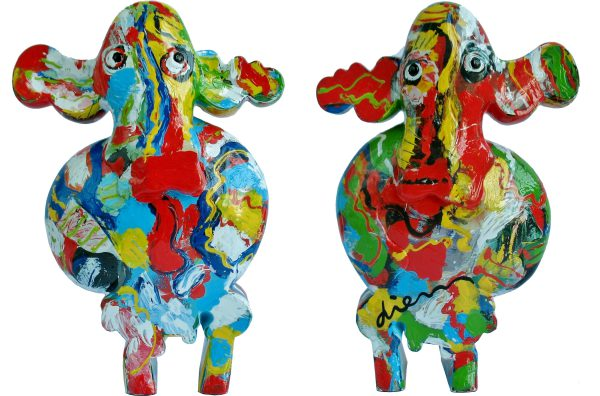 Cow 4 blauw rood