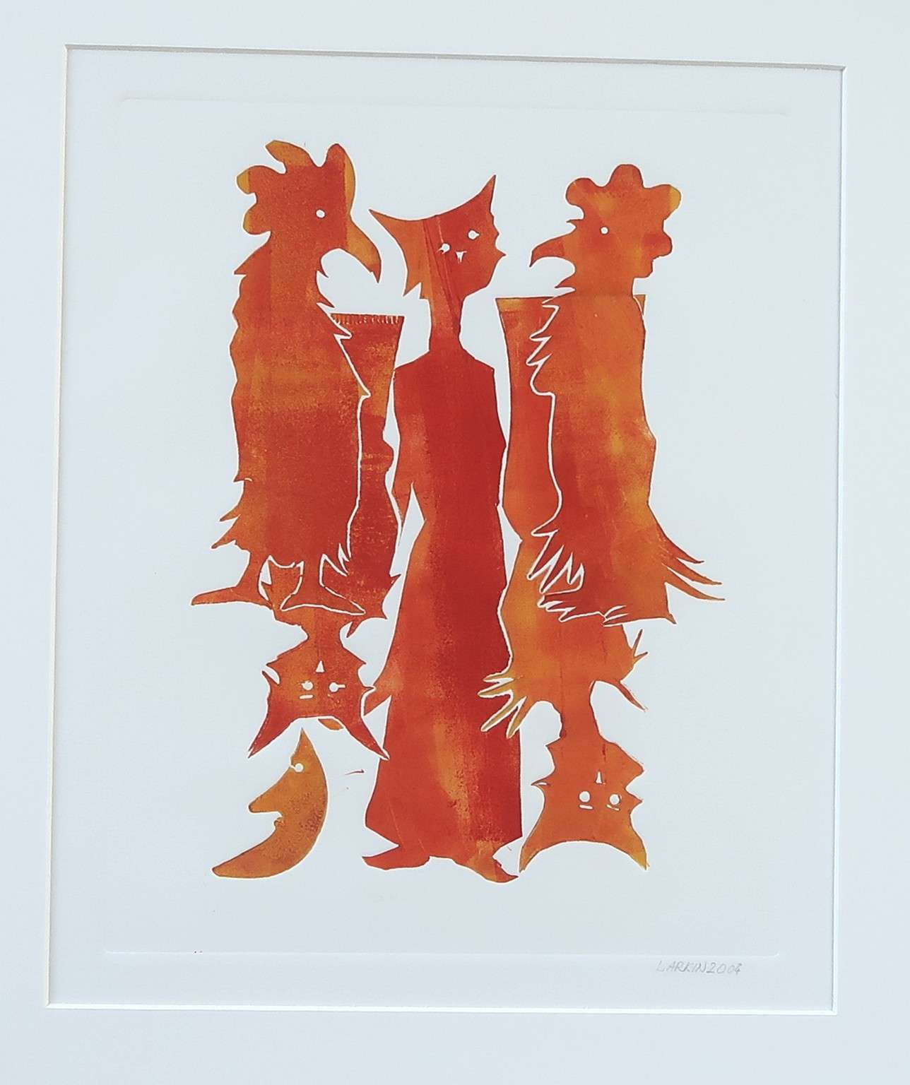 - Cats and chickens - Druk overig - 32x39